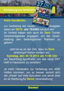 Einladung zur DKT Heft Verteilung 2014